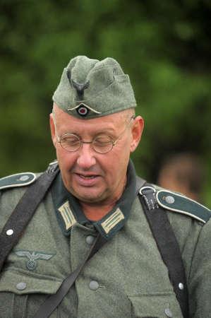 german fascist: soldiers in the German fascist form reconstruction