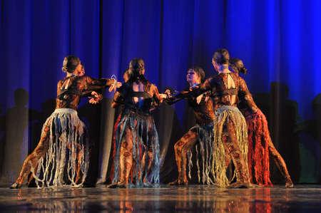 Oriental dance on stage