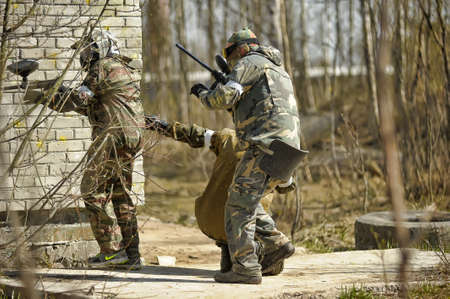 People in the paintball tournament