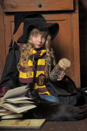 student of Hogwarts school of magic Stock Photo - 28637103