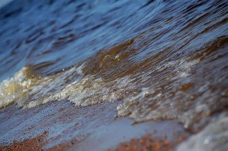 tout: Frothy ocean wave on a sandy beach