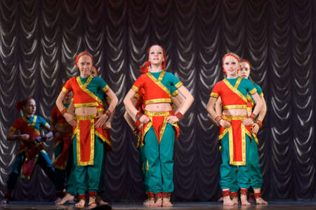 Indian  dance - festival for children and youth dance groups, St  Petersburg, Russia