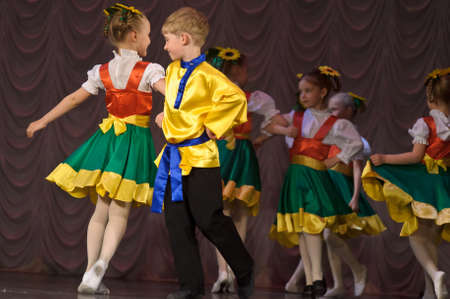 dramatics: Dance performance on stage, Festival of children s dance groups, St  Petersburg, Russia
