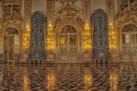 catherine: Ballroom Catherine Palace, St  Petersburg Editorial