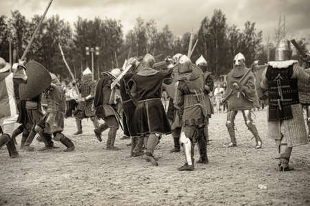 svcandinavians: medieval battle sepia