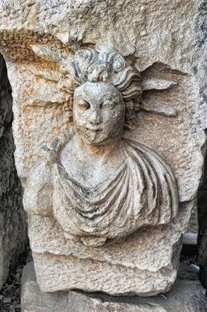 Medusa Gorgon - in Demre, Turkey. photo