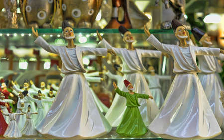 whirling: Whirling dervish in religious dancing.