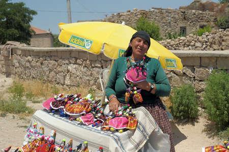 Turkish woman selling souvenir