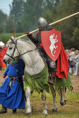 chrome man: Knight with lance on horseback