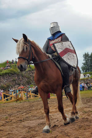 fast horse: A knight riding fast horse