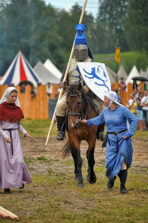 horseback: Knight with lance on horseback