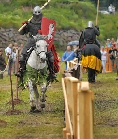 showmanship: Medieval knight on horseback