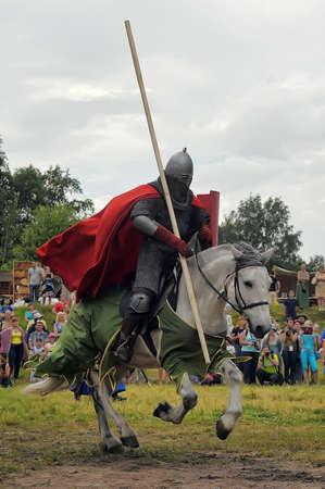 Knight with lance on horseback