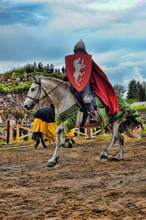 proponent: A knight riding fast horse
