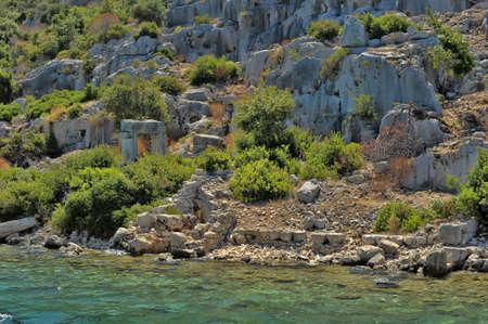 The sink city of Kekova Stock Photo - 30408644