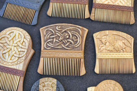 unique characteristics: Wooden combs for hair, made ??in the old Russian style