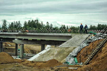 Construction of a new highway, Russia
