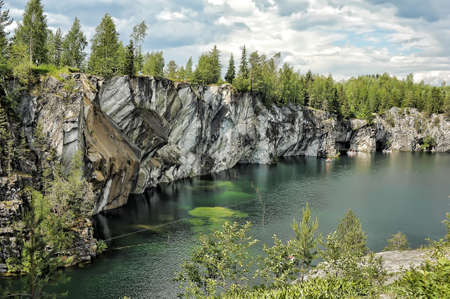coalesce: A photo of the flooded marble quarry at Ruskeala, Russia