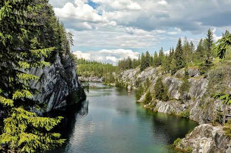 coalesce: Marble canyon  A beautiful summer landscape