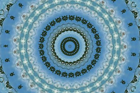blue circular pattern east photo