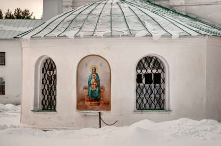 The Holy Trinity Alexander Svirsky Monastery in winter photo