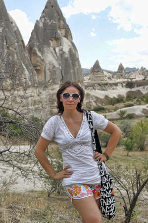Girl in Cappadocia photo