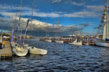 The first St. Petersburg International Maritime Festival.
