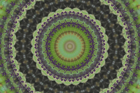 Green circular ethnic ornament photo