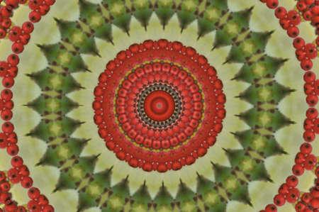 kwanzaa: red and green circular pattern