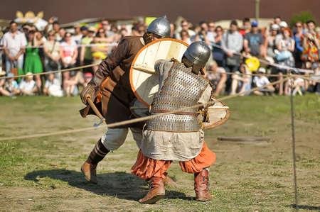 Vikings: Vikings fight with swords Editorial