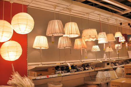fixtures: Lamps and lighting fixtures in the store