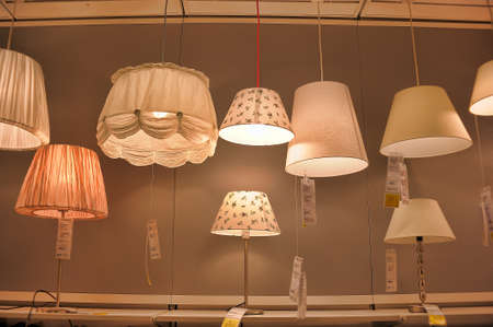 sconces: Lamps and lighting fixtures in the store