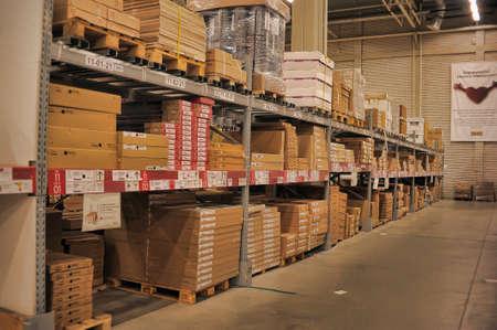 Beijing ikea indoor warehouse shelves.