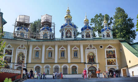 friaries: Saint-Assumption Pskovo-Pechersky monastery - one of the largest and rich in Russia friaries with centuries-old history.