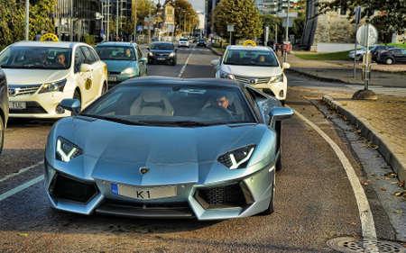 lamborghini: Lamborghini Aventador on the streets of Tallinn, Estonia.
