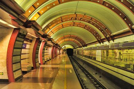 sub station: St. Petersburg underground station Obvodnyi kanal, Russia