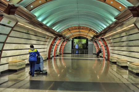 St. Petersburg underground station Obvodnyi kanal, Russia