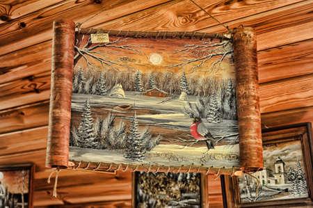 painting on birch bark