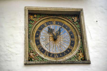 Old clocks in Tallinn, Estonia. photo