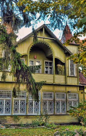 Vintage wooden house photo