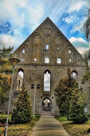 catholic nuns: St. Brigitta monastery. Established in 1407 as an order of Brigittine monks and nuns - it allowed men and women to work together. Estonia, Tallinn.