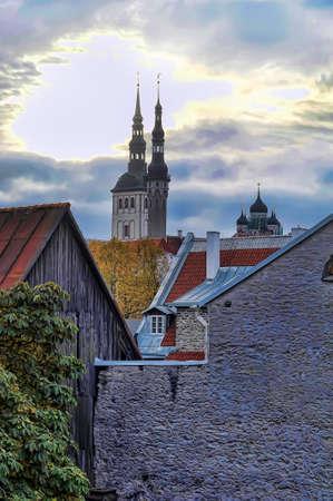 rooftops: Rooftops of Tallinn Stock Photo