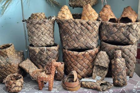 interleaved: vintage wicker basket and sandals