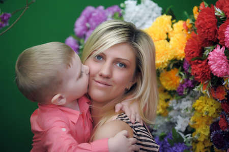 Happy mother with a child photo