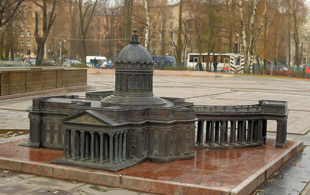 sculptural: Alexander Park, sculptural group Mini-city - miniature copies of the main attractions of the city. The layout of the St. Isaac