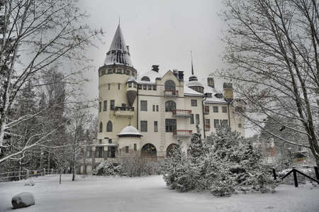 was: Old castle hotel Valtionhotelli (was built in 1903) in Imatra, Finland.