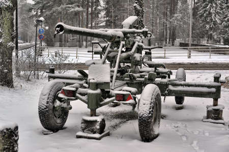 The old cannon from World Second War in Imatra, Finland. photo