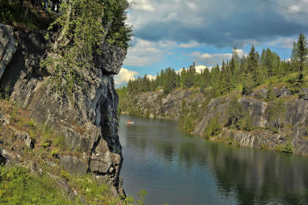 Marble Canyon Ruskeala in Karelia. photo