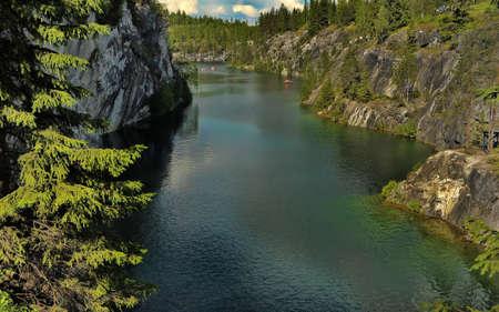 coalesce: Marble Canyon Ruskeala in Karelia.