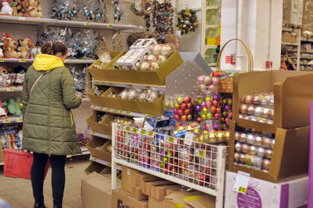 people in the store to buy christmas decorations for the house stock photo picture and royalty free image image 34547434